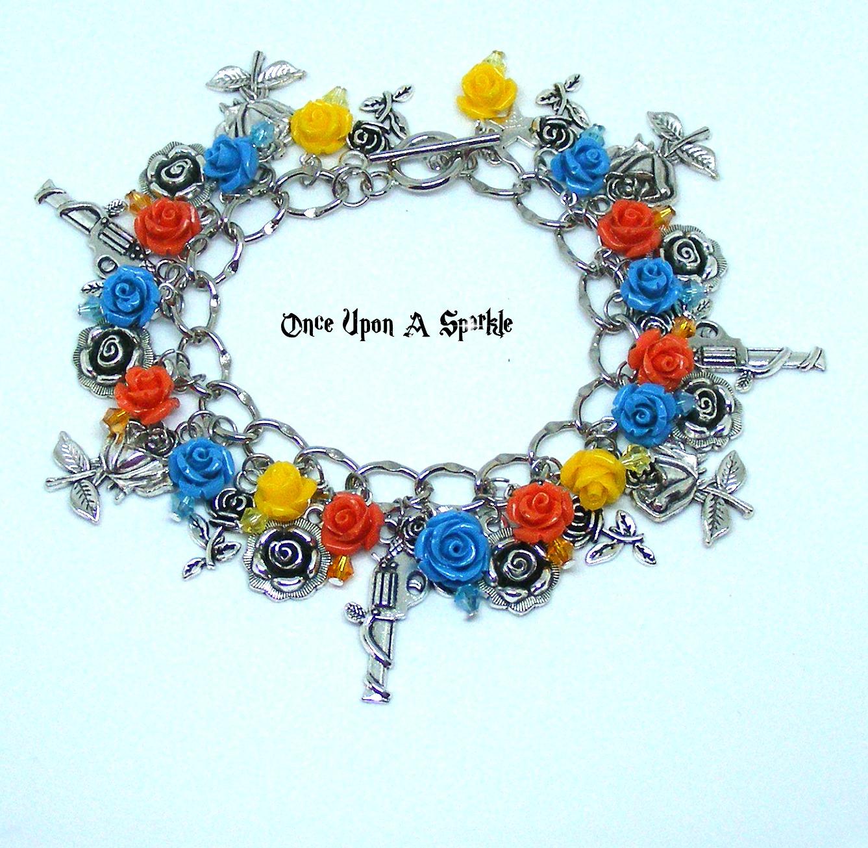 Charm bracelet guns & roses bright