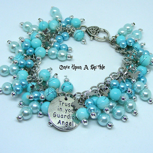 Trust in your Guardian Angel Charm Bracelet