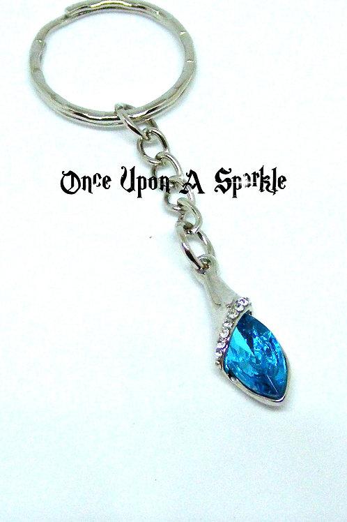 Blue Austrian Crystal Key Ring