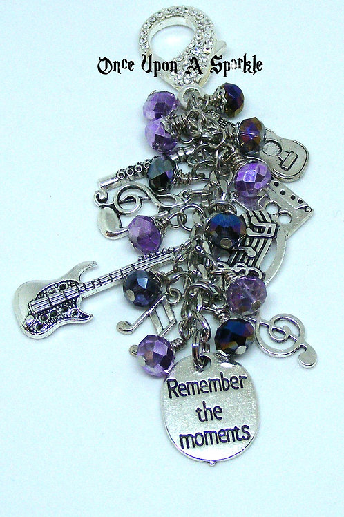 Shades of purple Remember the Moments Music Bag Dangle