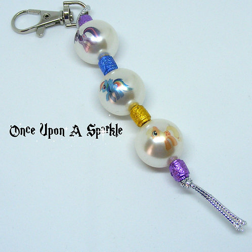 Bag Dangle - My Little Pony with Barrel Beads