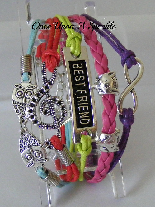 Bracelet - Leather Multiple colour Best Friend