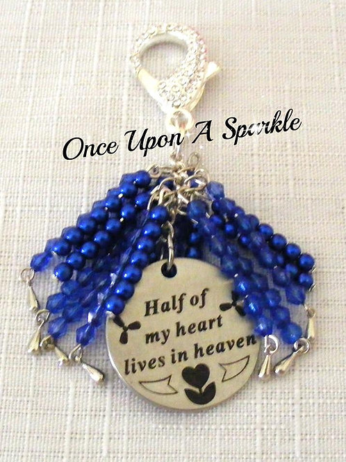 Bag Dangle - Message dark blue
