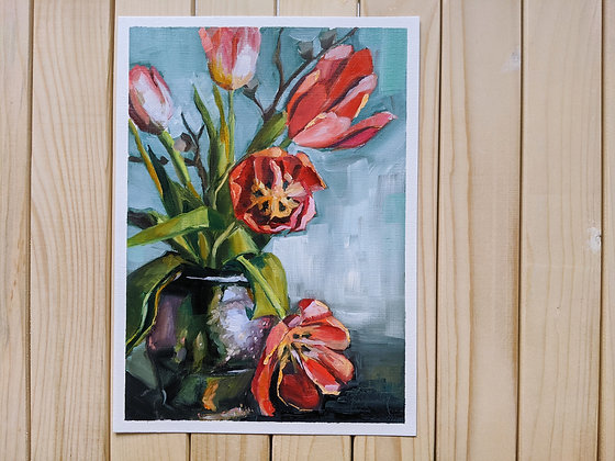 A Vase with Tulips