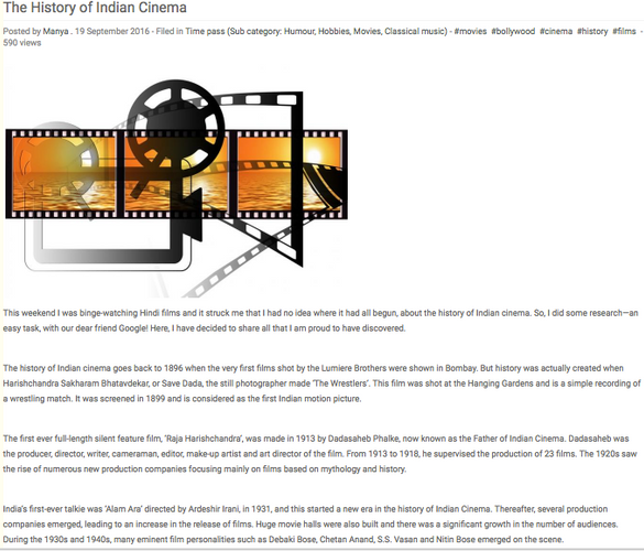 The History of Indian Cinema