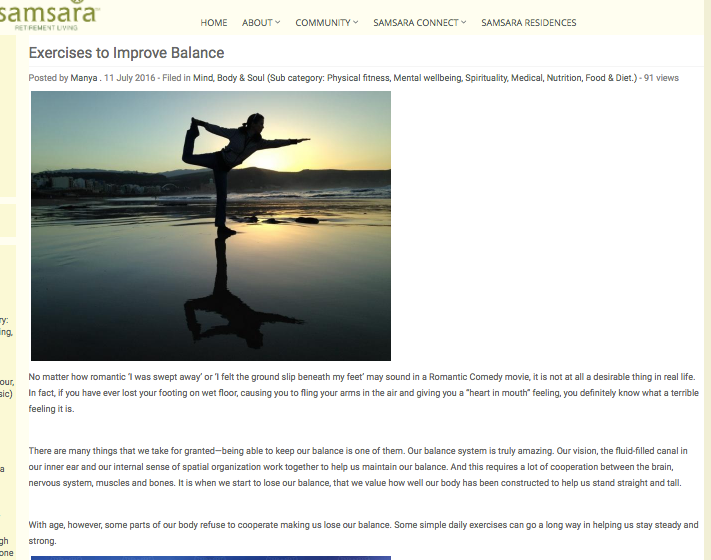 Exercises to Improve Balance