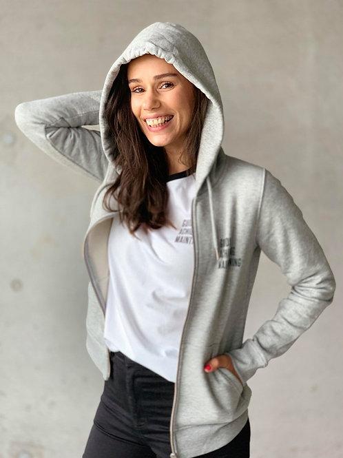 Grey Sweater+rits Women