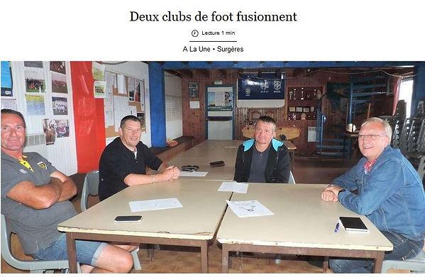 Deux clubs de foot fusionnent - Sud Oues