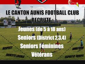 Recrutement Canton Aunis Football Club
