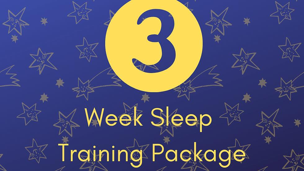 3 Weeks Sleep Training Support