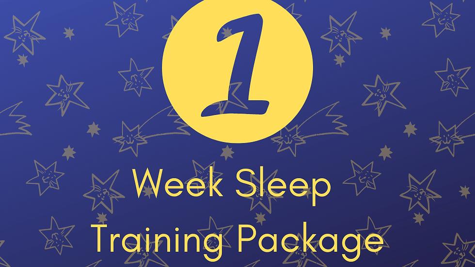 1 Week Sleep Training Support