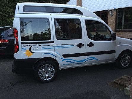 compact camper conversion doblo campervan leeds west yorkshire. Black Bedroom Furniture Sets. Home Design Ideas