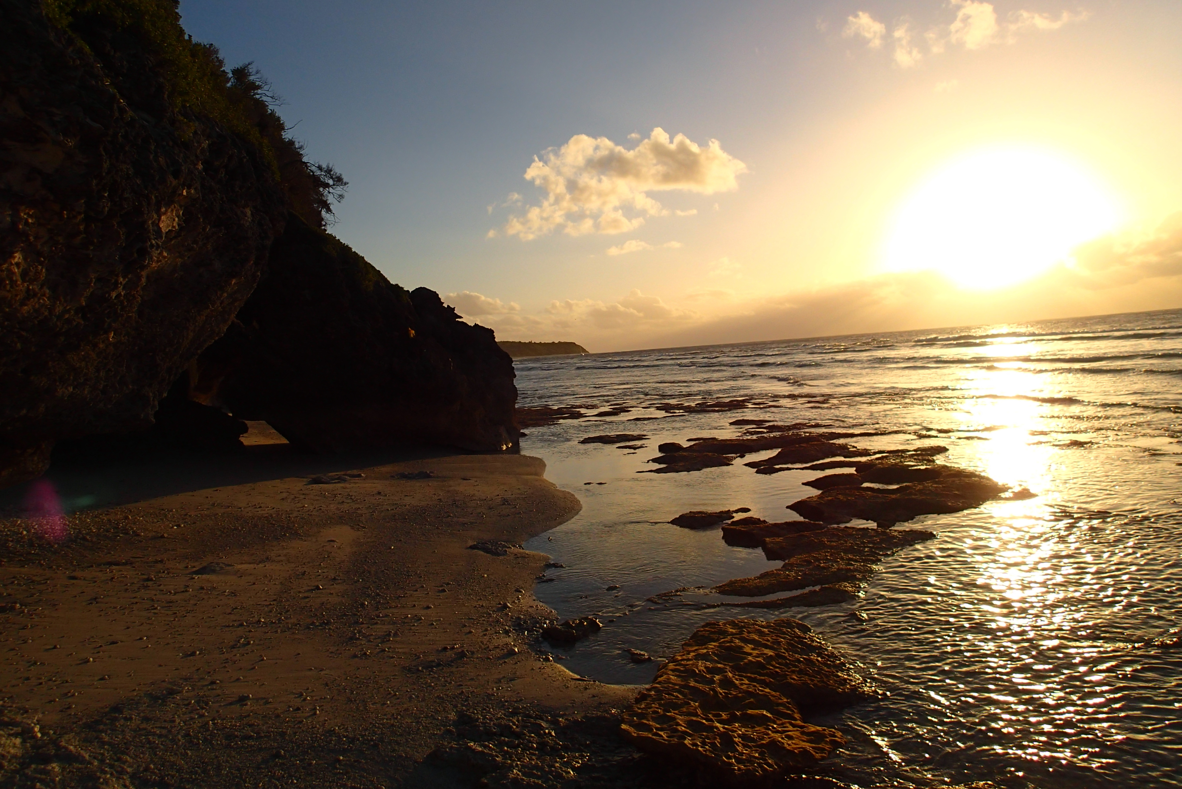 Taravai island sunset