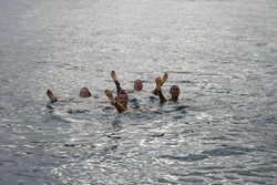 no wind swimming session