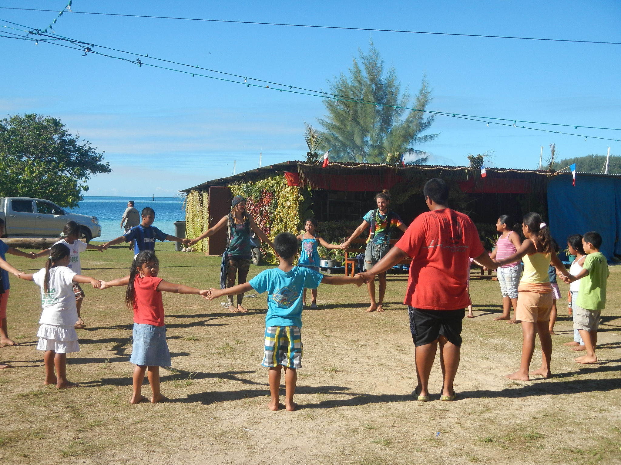 Circus workshop in Mangareva