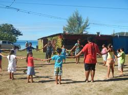 Circus workshop in Mangareva
