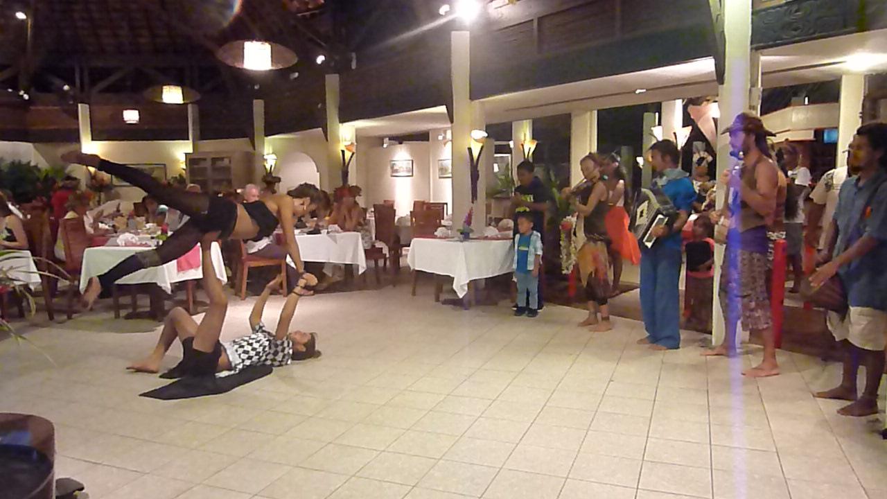 In a hotel in Raiatea