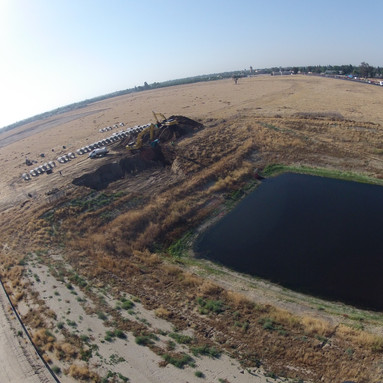 100 foot wide hole, 32 feet deep for 60