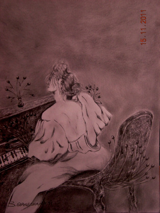 'Playing on the Piano'