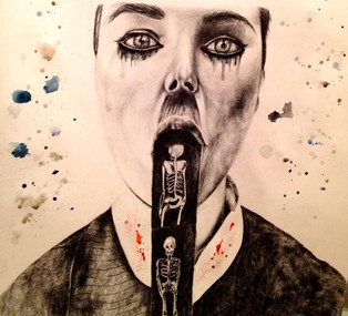 2014 Pencil on paper and water colour
