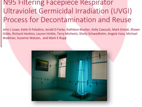 Praktisk processbeskrivning över hur UVC används för att desinficera ansiktsmasker