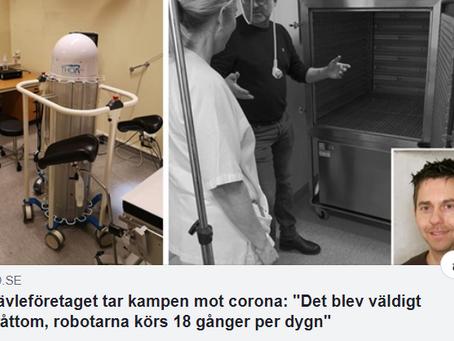 Racura levererar produkter till Norge i kampen mot COVID 19