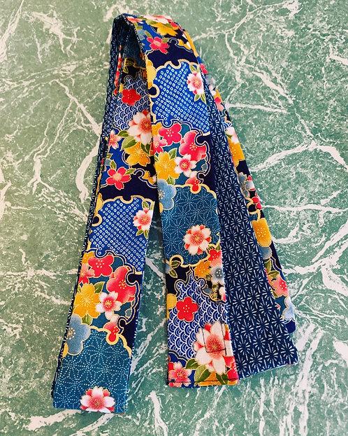 Japanese Blue Floral Belt