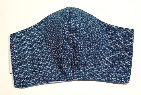 Cornflower Blue Japanese Fabric Face Mask (3 Layer)