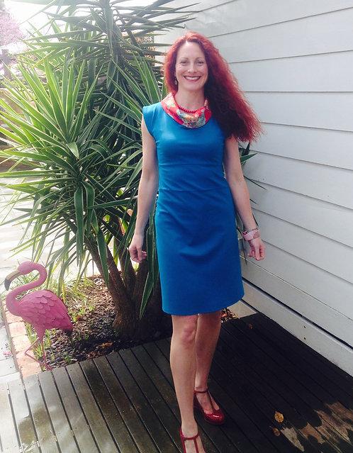 Preloved Teal Cowl Dress