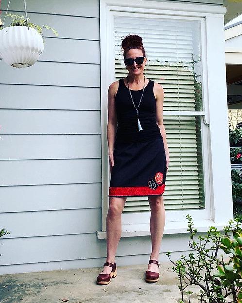 Denim Skirt & Japanese Circles