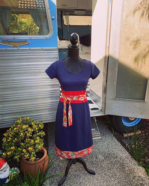 Navy/Red Miracle Dress