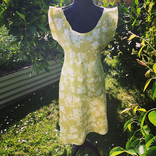 Green Tea Japanese Linen Dress
