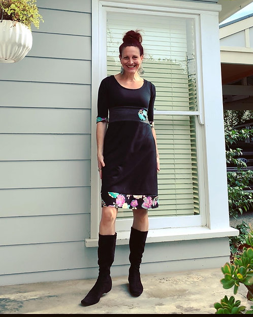 Teal & Magenta Floral Miracle Dress