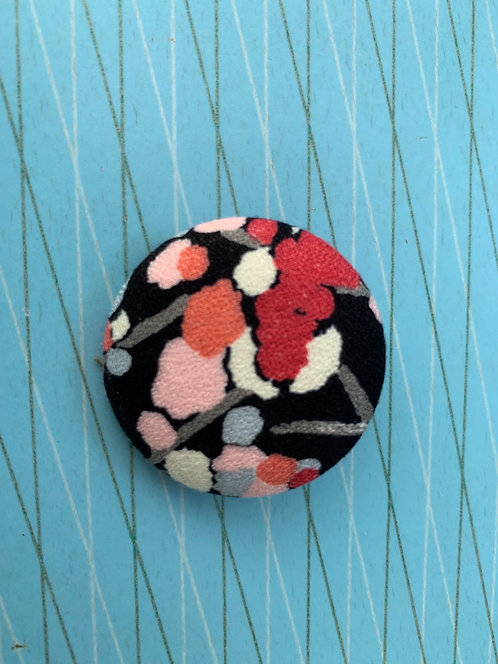 Japanese Button Brooch