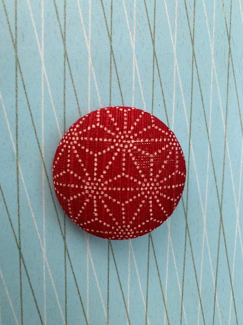 Japanese Button Brooch