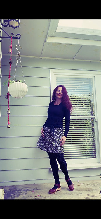 Preloved Recycled Sari Wrap skirt