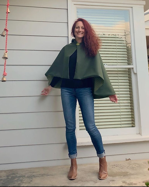 Olive Lined Cape