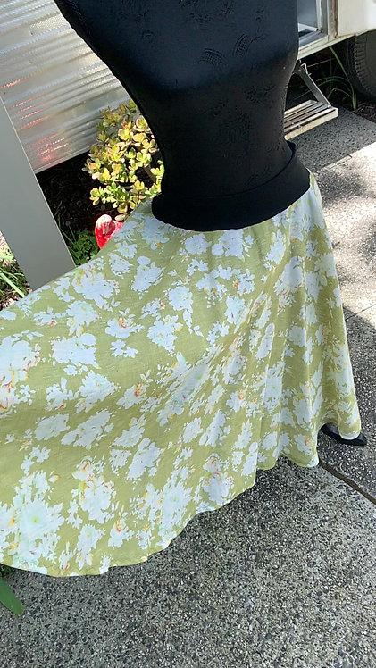 Japanese Green Tea Swing Skirt