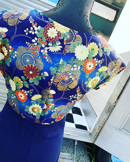 Floral Japanese Panel Dress