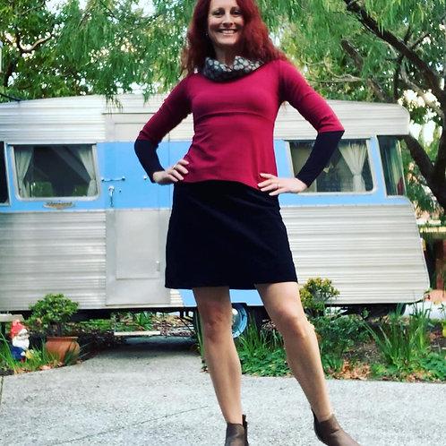 Black Cord Skirt