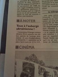 Echanges Lorraine Ukraine dans la presse locale