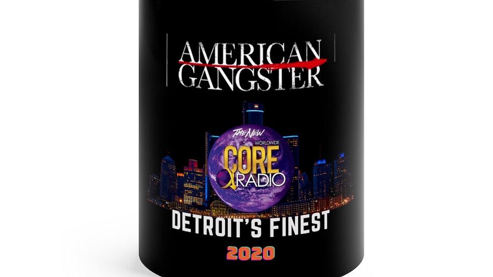 "American Gangster- Detroit's Finest"" Commemorative Black mug 11oz"