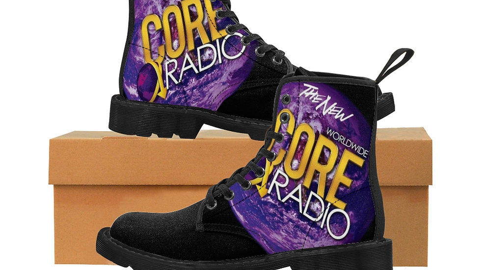 """CORE UP!"" Men's Canvas Boots Black"