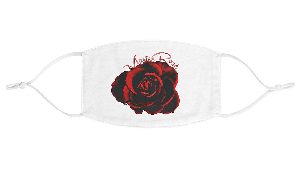 Mariee Rose' White Fabric Face Mask
