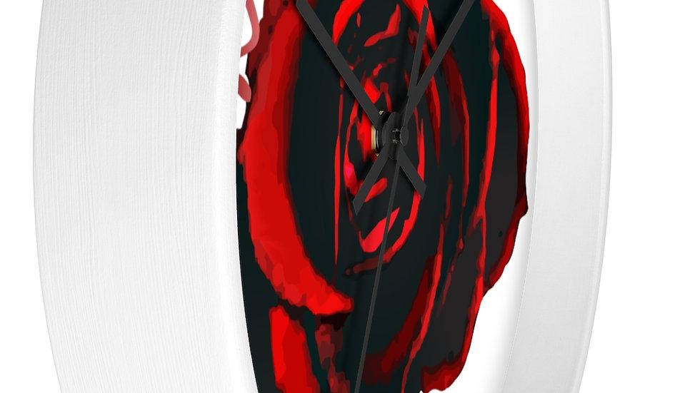 Mariee Rose' White Frame Wall clock