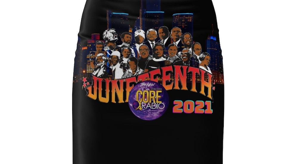 """""""JuneteenhtDetroit 2021"""" Women's Pencil Skirt"""