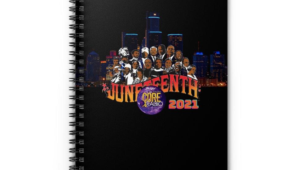 """""""JuneteenhtDetroit 2021"""" Spiral Notebook - Ruled Line"""