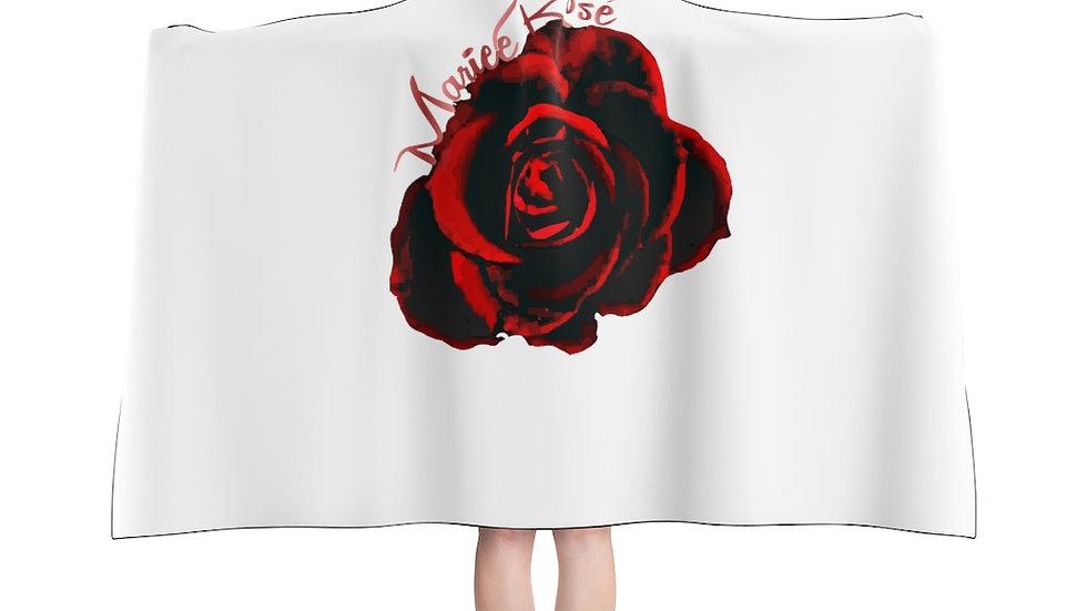 Mariee Rose' White Hooded Blanket