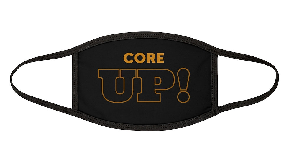 """Core Up!""TV Mixed-Fabric Face Mask"