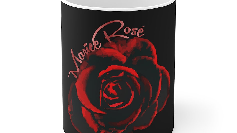 Mariee Rose' Cofee Mug Black 11oz